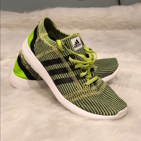 1311182b9501 adidas Shoes - adidas Lime Green and Black Running Shoes